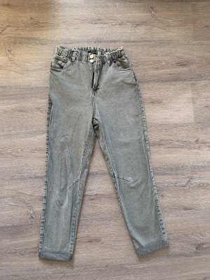 Bershka Jeans taille haute gris