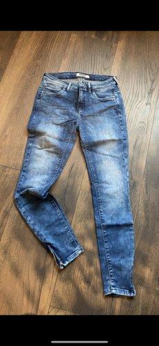 Only Pantalon taille basse bleu