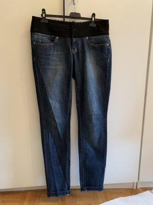 Jeans mit Satinbund