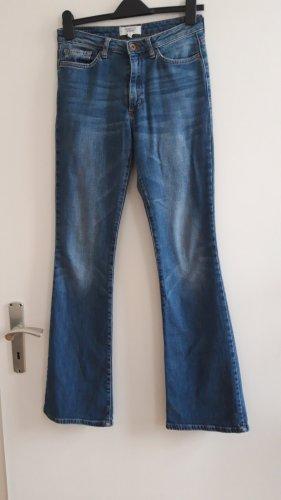 Mango Pantalon pattes d'éléphant bleu