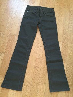 bonobo jeans Broek met wijd uitlopende pijpen antraciet