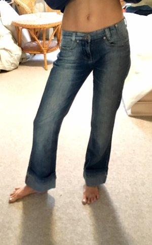 Pantalone a vita bassa blu-blu pallido