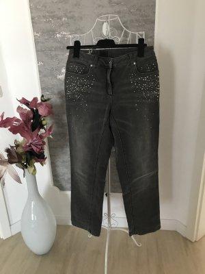 Madeleine Jeans bootcut gris coton