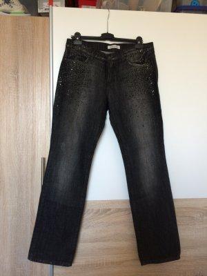 Jeans mit Strass Steinen von Joop, schwarz/grau , Gr.40