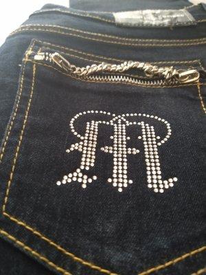 aus Italien Jeans coupe-droite bleu foncé