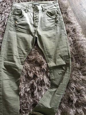 Lexxury Stretch jeans grijs-groen Katoen