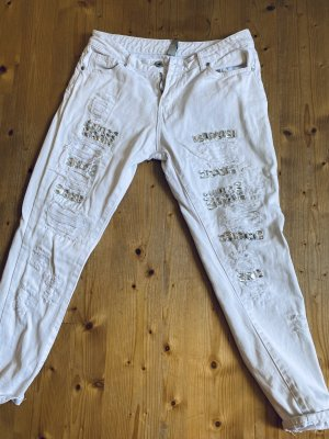 Boot Cut Jeans white