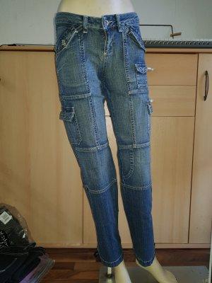 AJC Low-Rise Trousers blue