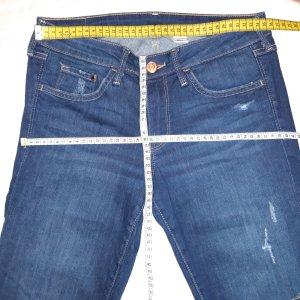 & DENIM Wortel jeans blauw Katoen