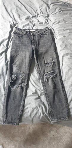 Mango Denim Shorts black-dark grey