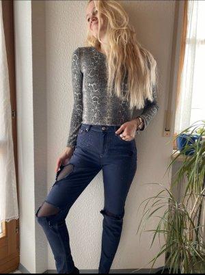 Jeans , Mom Jeans , blue , Löcher, Größe 36