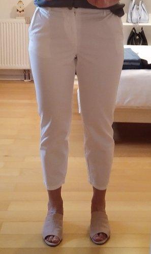 Zara Jeans a carota bianco sporco-beige chiaro Cotone