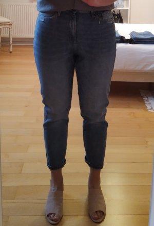 Q/S Jeans a carota grigio ardesia Cotone