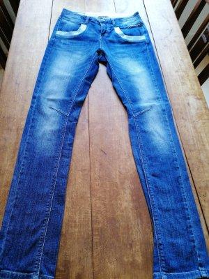 Mos Mosh Pantalón de cinco bolsillos azul