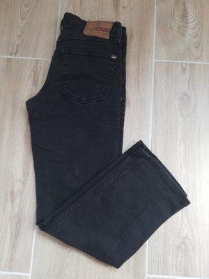 Mustang Jeansy z prostymi nogawkami czarny
