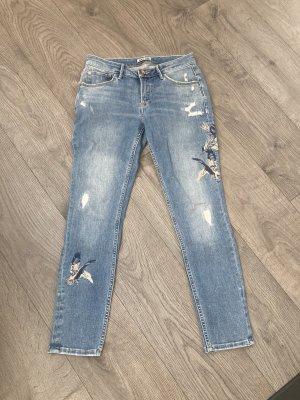 Garcia Jeans a gamba dritta azzurro-blu fiordaliso
