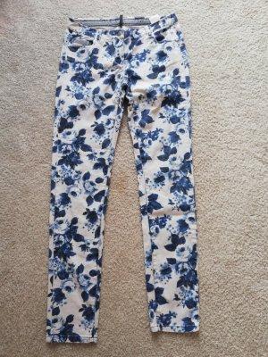 Naf naf Jeans elasticizzati bianco-blu scuro