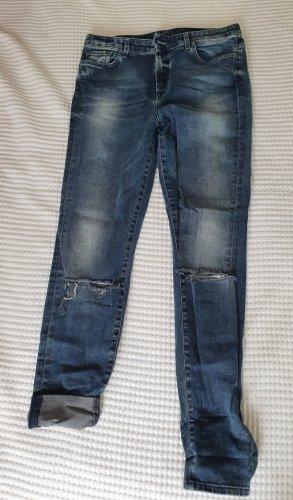 7 For All Mankind Jeans skinny bleu foncé coton