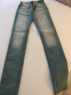 One green elephant Jeans cigarette bleu acier