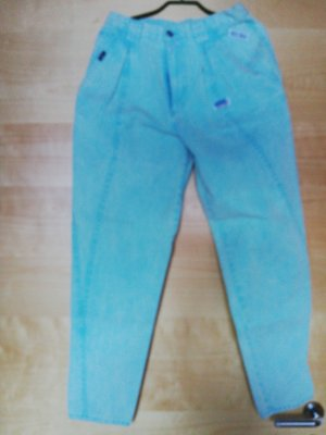 Made in Italy Jeans a carota turchese