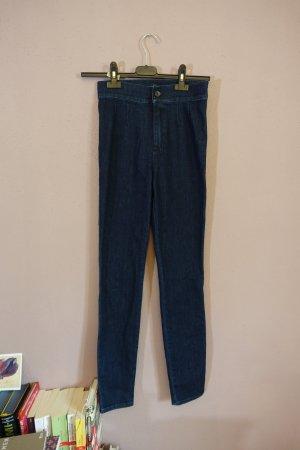 Dolce & Gabbana Hoge taille jeans blauw-donkerblauw Gemengd weefsel
