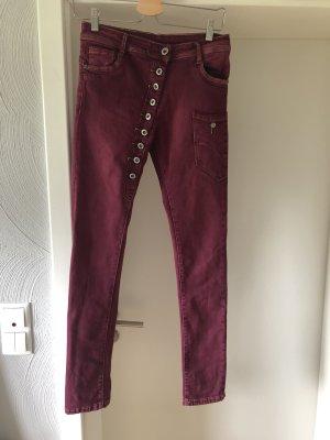 Jeans, NEU, schräge Knopfleiste