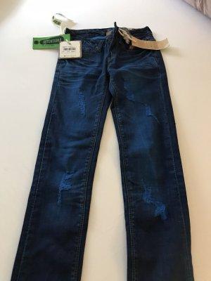 One green elephant Jeans cigarette bleu