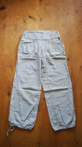 nikita denim Workowate jeansy szaro-zielony Bawełna