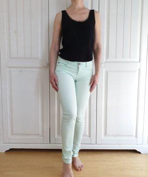 Jeans Only Hose Röhrenhose 36 S Röhrenjeans grün Türkis pants pulli pullover