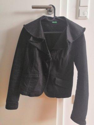 Jeans(optik)jacke schwarz | Gr. 38 | Benetton