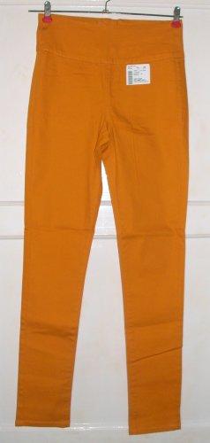 Pieces Pantalone a vita bassa arancione