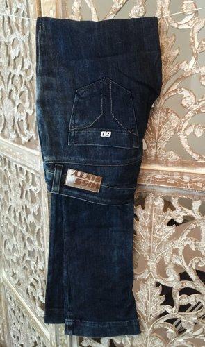 Miss Sixty Jeans met rechte pijpen donkerblauw-azuur