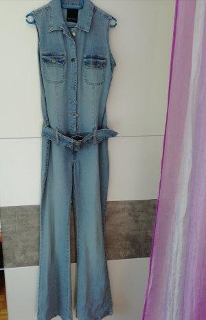 Amisu Jeansowe spodnie dzwony niebieski