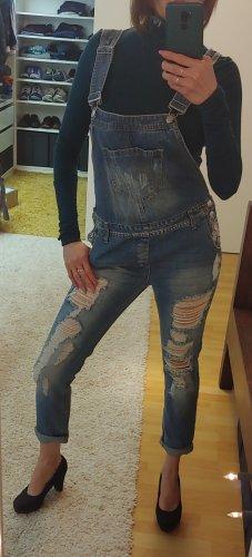 FB Sister Pantalon boyfriend bleu azur-bleuet