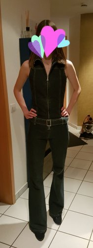 #Jeans#Overall#Schlaghose#Reißverschluß#
