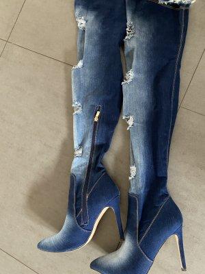 Jeans Overknees Gr 39
