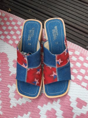 Colours of the World Heel Pantolettes red-blue