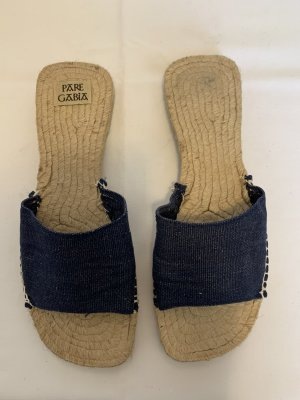Pare Gabia Espadrille Sandals dark blue cotton
