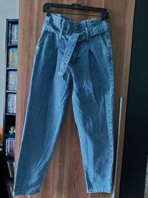 Jeans/Paperbaghose mit Bindgürtel in Gr. 26/30 von Topshop