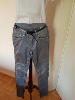Pepe Jeans Jeansy typu biker jasnoszary