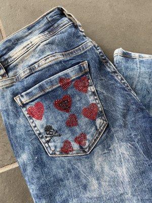 Philipp Plein Jeans slim rouge-bleu
