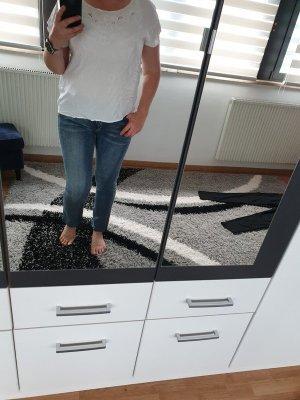 Jeans Pieces Gopped Gr. L NEU Mid Waist 7/8 Länge