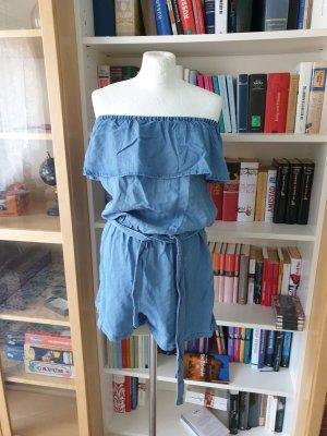 Jeans Playsuit, gr L (38/40), vero moda , off shoulder Jumpsuit