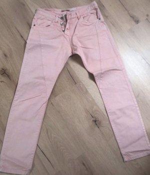 Please Boyfriend jeans lichtroze