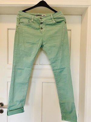 PLEASE Denim Jeans boyfriend menta-turchese
