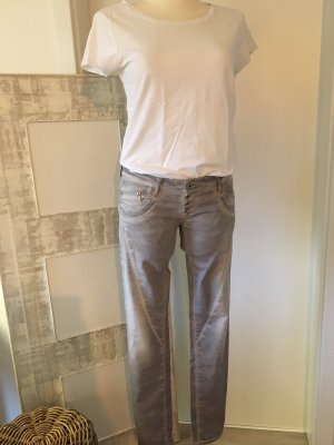 Please Stretch jeans zilver-lichtgrijs