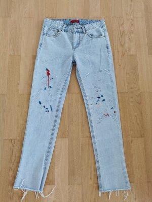 Pull & Bear Jeansy z prostymi nogawkami jasnoniebieski-błękitny