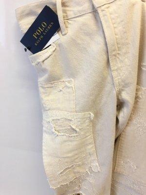 Ralph Lauren Jeansy z prostymi nogawkami kremowy