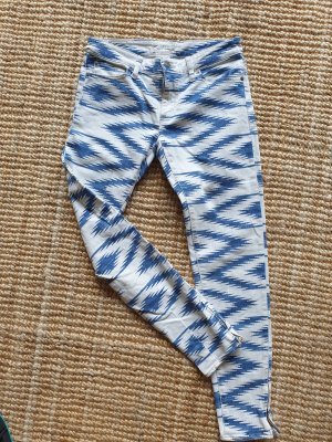 Ralph Lauren Five-Pocket Trousers blue-white cotton