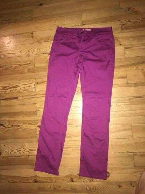 Jeans Regular Fit von Esprit Größe 38 lila matt glänzend fast neu violett